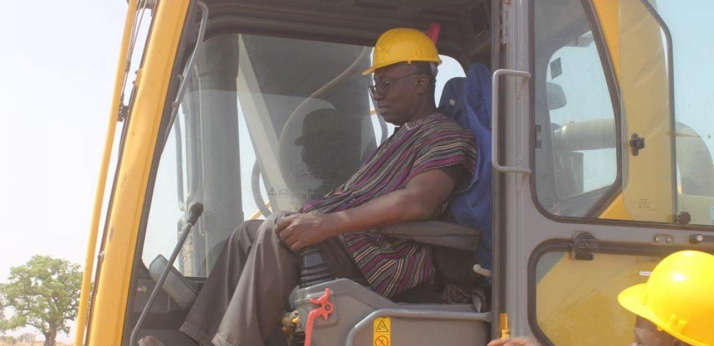 U/E: Professor Frimpong Boateng cuts sod for rehabilitation of Adaboya dam